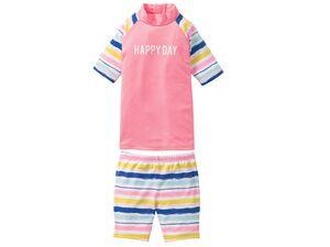 LUPILU® Schwimmanzug / Set Mädchen, UV-Schutz, Reißverschluss am Rücken, enthält Elasthan