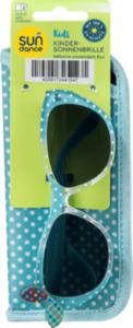 SUNDANCE Sonnenbrille für Kinder mit passendem Etui Türkis Gepunktet