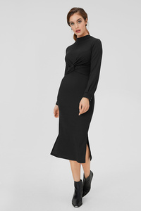 C&A Figurbetontes Kleid mit Knotendetail, Schwarz, Größe: L
