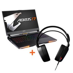 "GIGABYTE AORUS 17 GAMING + Steelseries Arctis Pro Headset 17,3"" FHD 240Hz, i7-9750H, RTX 2080, 16GB RAM, 1TB SSD, Windows 10"