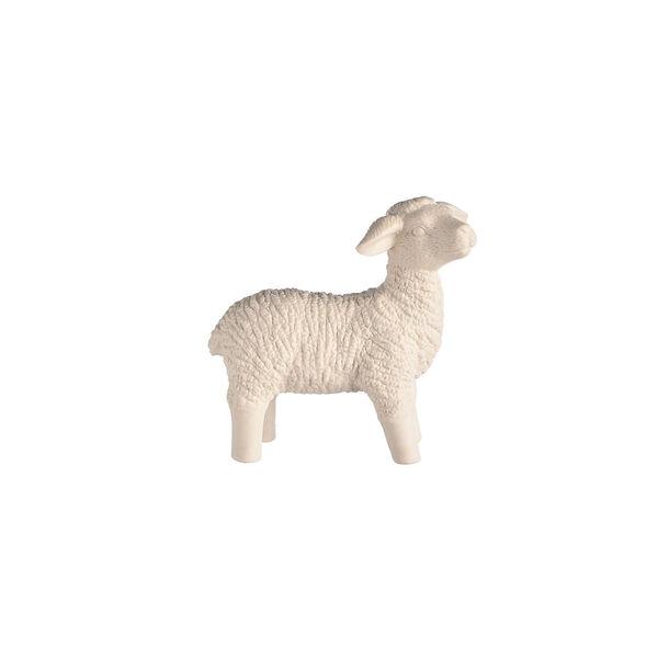 Dekofigur Schaf stehend, D:16cm x H:15,5cm, weiß