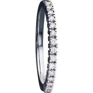 Moncara Damen Ring, 375er Weißgold mit Diamanten