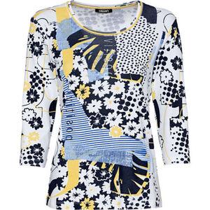 Olsen Shirt, 3/4-Ärmel, Allover-Print, für Damen