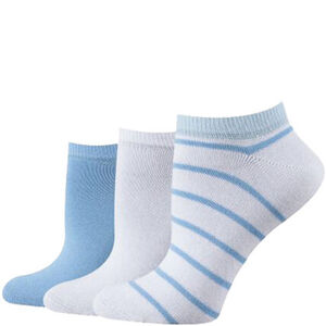 Tom Tailor Sneaker-Socken, 3er-Pack, Ringel, für Damen
