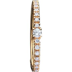 Moncara Damen Ring, 375er Gelbgold mit Diamanten