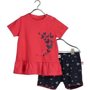 Blue Seven T-Shirt & Shorts, 2tlg. Set, Rüschen, für Baby Mädchen