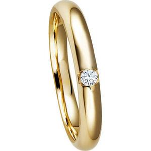 Moncara Damen Ring, 375er Gelbgold mit Brillant
