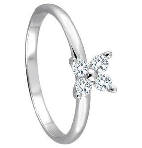 Moncara Damen Ring, 585er Weißgold mit Diamanten