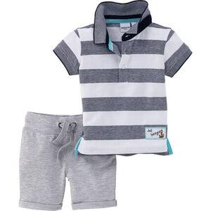 Manguun Poloshirt & Shorts, 2tlg. Set, für Baby Jungs