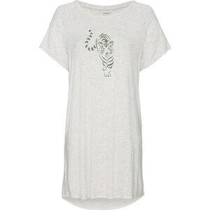 Manguun Nachthemd, Brustprint, Kurzarm, für Damen
