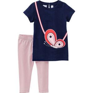 Manguun T-Shirt & Leggings, 2tlg. Set, für Baby Mädchen