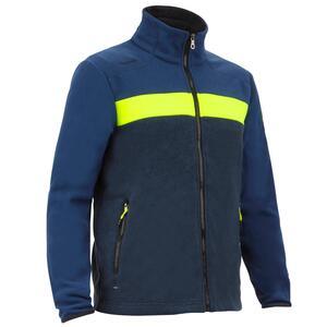 Fleecejacke Segeln Regatta Race Herren blau/gelb