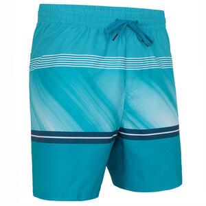 Boardshorts Surfen Division Herren blau mit Steifen