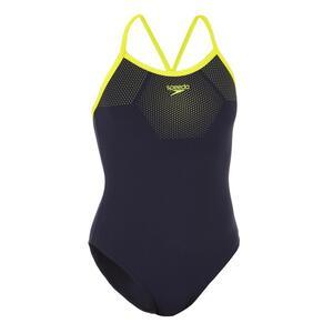 Badeanzug PLMT Thinstrap Damen blau/gelb