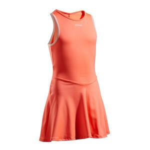 Tenniskleid TDR500 Kinder koralle