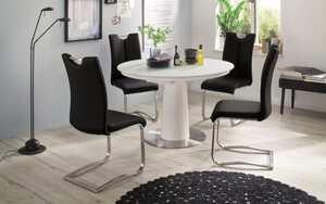 MCA furniture - Stuhlgruppe Artos 2/Waris in schwarz/weiß