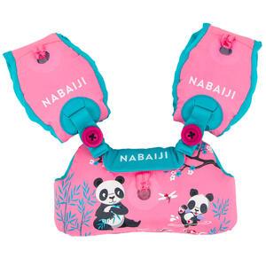 Schwimmflügel-Gurt Tiswim Kinder 15–30kg Druckmotiv Panda rosa