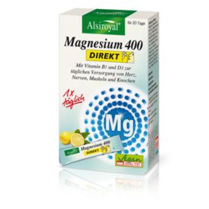 Alsiroyal  Magnesium 400 DIREKT Zitrone 20 Sticks