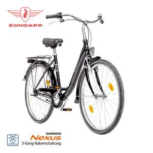 Citybike Red 1.0 - Shimano Drehgriffschalter - Alu-V-Bremse vorne, Rücktrittbremse - Rahmenhöhe: 35 cm (24er), 46 cm (26er), 50 cm (28er)