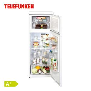 Kühl-Gefrierkombination TFDT362 A+ · Nutzinhalt Kühlen: 171 Liter · Nutzinhalt Gefrieren: 42 Liter · Maße H 144 x B 54 x T 57 cm · Energie-Effizienz A+ (Spektrum: A+++ bis D)