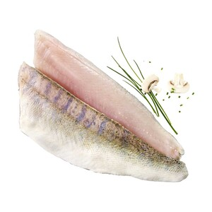 Zanderfilet Wildfang, Binnenfischerei, Osteuropa, mit Haut, getaut, je 100 g