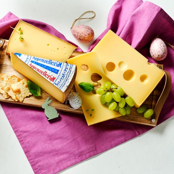 Original Schweizer Appenzeller, mild-würzig Schweizer Schnittkäse mit Rohmilch, 48 % Fett i. Tr., oder