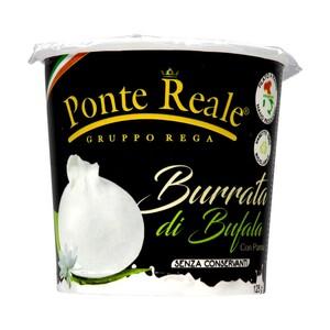 Ponte Reale Burrata di Bufala Mozzarella-Käse aus Büffelmilch je 125-g-Stück