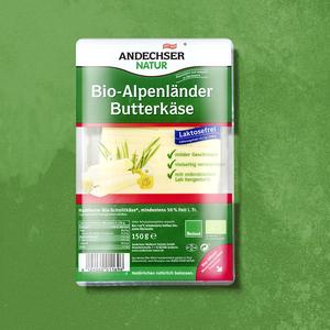 Andechser Bio Alpenländer Butterkäse halbfester Schnittkäse, 50 % Fett i. Tr., jede 150-g-Packung