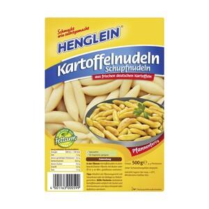 Henglein Kartoffelnudeln (Schupfnudeln) oder Kartoffelklöße vorgeformt aus dem Kühlregal jede 500-g-Packung