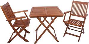 GARDEN PLEASURE Balkonset »Seattle«, 3-tlg., 2 Stühle, Tisch 70x73 cm