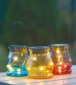 Solar-Glaslaterne