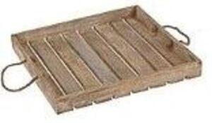 Serviertablett - aus Holz - 40 x 40 x 5 cm