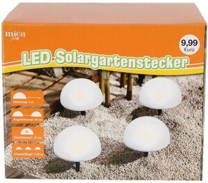 LED-Solarstecker - 15 x 8,5 cm - 4 Stück