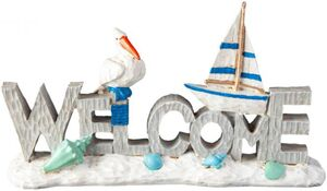 Deko-Schriftzug - Welcome - aus Polyresin - 30 x 17,5 x 5,5 cm