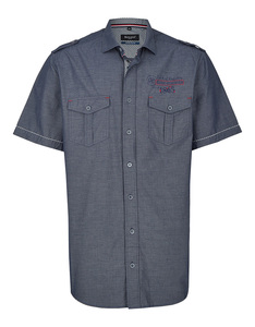 Bexleys man - Freizeithemd, kurzarm, gestreift