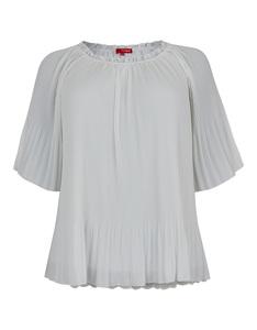 THEA - Plissee-Bluse aus Chiffon