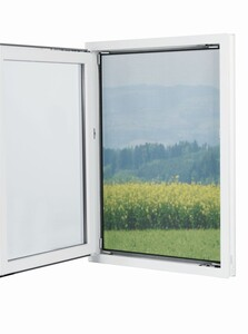EASYmaxx Moskitonetz 150x130cm schwarz für Fenster mit Magnetbefestigung