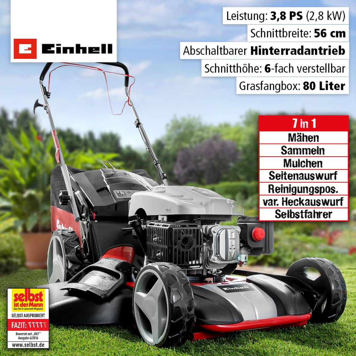 Bild 2 von Einhell Benzin-Rasenmäher 7 in 1 - GC-PM 56/3 S HW