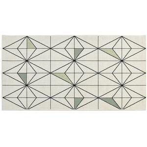 In-/Outdoorteppich Grafisch, L:150cm x B:80cm, grün