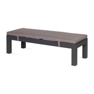 Sitzbank Dining, Outdoor, 120x45x30cm, dunkel-grau