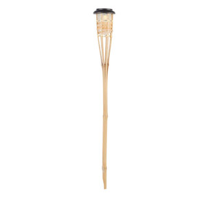 ProVida Solar-Bambus Gartenfackel 76 cm