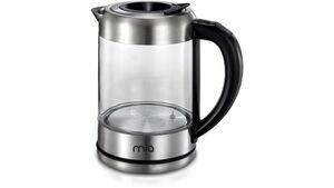 Mia Edelstahl Glas-Wasserkocher mit Temperaturwahl