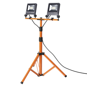 Ledvance LED WORKLIGHT Baustrahler 2X30W 840 TRIPOD, ca .78 x 68 x 175cm, Dunkelgrau/Orange