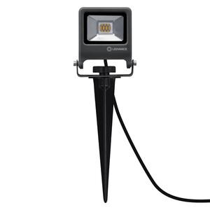 Ledvance LED Außenleuchte Endura Garden Flood, Spike, 10W, dunkelgrau, ca. 10,8 x 29,2cm