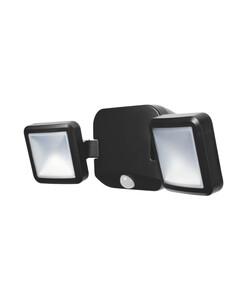 Ledvance Battery LED Spotlight double mit Sensor, schwarz, Batterien nicht incl., 10Watt, ca. 33,2 x