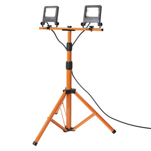 Ledvance LED WORKLIGHT Arbeitslicht 2X20W 840 TRIPOD, ca. 78 x 68 x 170cm, Dunkelgrau/Orange