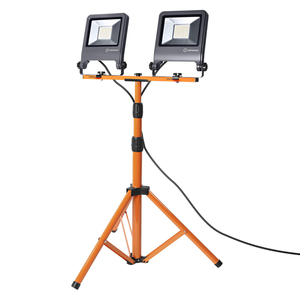 Ledvance LED Baustrahler WORKLIGHT 2X50W 840 TRIPOD, ca .78 x 68 x 180cm, Dunkelgrau/Orange