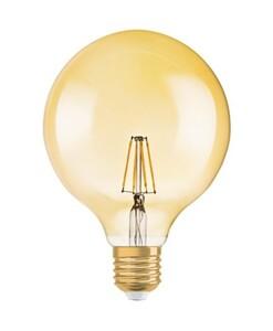 Osram 1906 LED Globe 4W/824 230V Filamant Gold E27, 17,8 X 12,5 cm