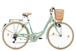 KSCycling Damenfahrrad 28'' Cantaloupe mint mit Korb RH48cm