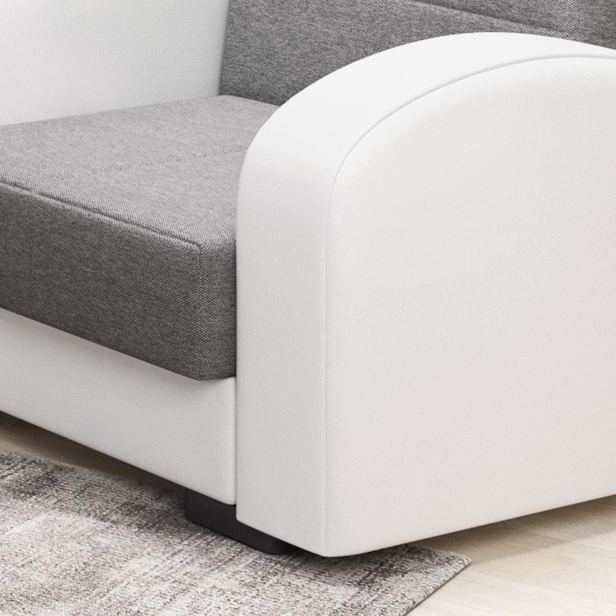 Bild 5 von IHG 3-2-1 Sofa Set Vera anthrazit Armlehne weiss Sofa mit Schlaffunktion und Bettkasten